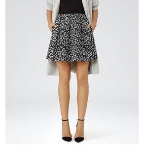 Reiss Fray Jacquard Mini Skirt Size 2